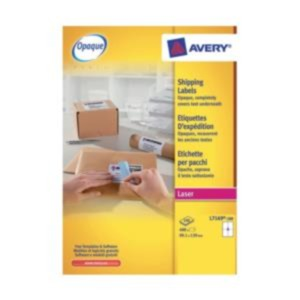 Avery L7169-100 BlockOut Shipping Labels (White) 139 x 99.1mm (Pack of 400 Labels)