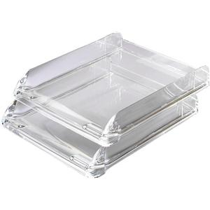 Rexel Nimbus (A4) Letter Tray Self-Stacking Acrylic Clear (Single)