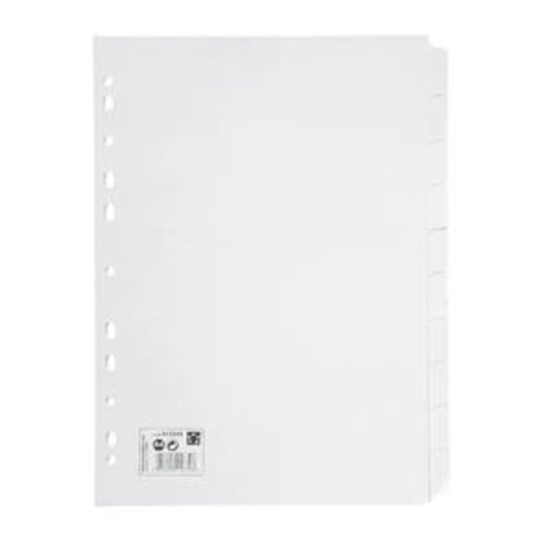 5 Star Subject Dividers Multipunched Manilla Board 10-Part Extra Wide A4 Assorted