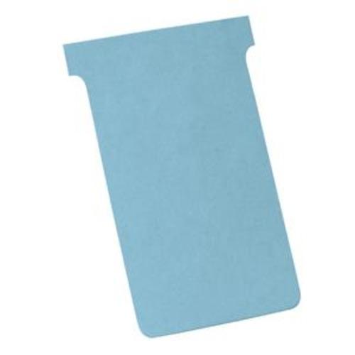 100 Pack Nobo T-Cards Size 4 Light Blue